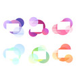 set of multicolored banners with round elements vector image