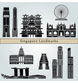 Singapore V2 landmarks and monuments vector image