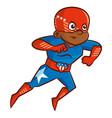 superhero boy cartoon character vector image vector image