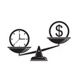 time is money on scales vector image