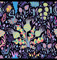 tropical fantastic bright plants mushrooms vector image vector image