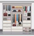 wardrobe storage interior realistic vector image