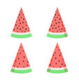watermelon slices set in flat style isolated vector image