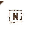 wooden alphabet or font blocks with letter n