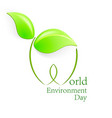 world environment day green leaves shapes with vector image