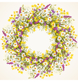 wreath wild flower vector image