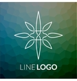 Line art logo icon concept for design vector image