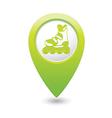rollerskates GREEN map pointer vector image