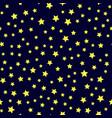 yellow star seamless pattern vector image