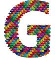 3d font letter G vector image vector image