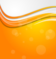 Abstract bright orange background with circles vector image
