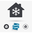 Air conditioning indoors icon Snowflake sign vector image vector image