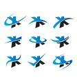 Alphabet X Logo Icons vector image vector image