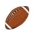 american football rugball hand drawn grunge vector image