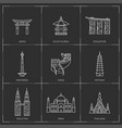 asian famous landmarks vector image