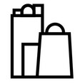 bag business shop shopping icon vector image
