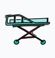 bed hospital doodle color icon drawing sketch vector image vector image
