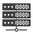 big data or server icon vector image
