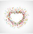 bright colorful catching heart shape background vector image