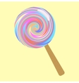 Bright lollipop vector image