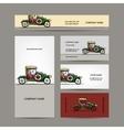 Business cards design retro car vector image vector image