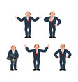 businessman set of movements boss set poses vector image