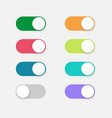 buttons toggle switch off on design mobile ui vector image vector image