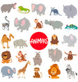 cartoon animal characters large set vector image vector image