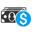 Cash Flat Icon vector image vector image