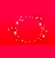 christmas circle frame with glitter decor lights vector image