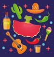cinco de mayo celebration set icons vector image vector image