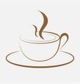 coffee sihouette logo for coffee shopcoffee logo vector image