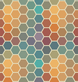 Colored seamless hexagon texture vector image vector image