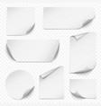 curled sticker blank etiqueta rectangular paper vector image