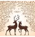 deer trees vector image vector image