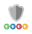 defense shield icons vector image