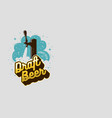 draft beer tap with foam design for promotion and vector image vector image
