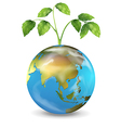 Earth growing plant vector image