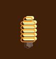energy saving light bulb flat design vector image vector image