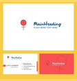 female logo design with tagline front and back vector image vector image