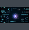 futuristic interface hud infographic elements vector image