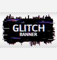 glitch banner distorted font trendy