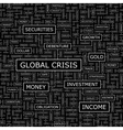 GLOBAL CRISIS vector image vector image