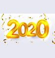 golden 2020 new year xmas party banner vector image vector image