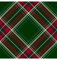 Green red diagonal check tartan textile seamless vector image vector image