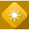 icon of Sun with a long shadow vector image vector image