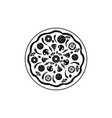 icon pizza isolated on white background food vector image vector image