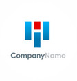 letter h company logo vector image vector image