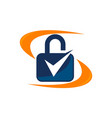 lock security service vector image
