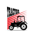 logotype tractor vector image vector image